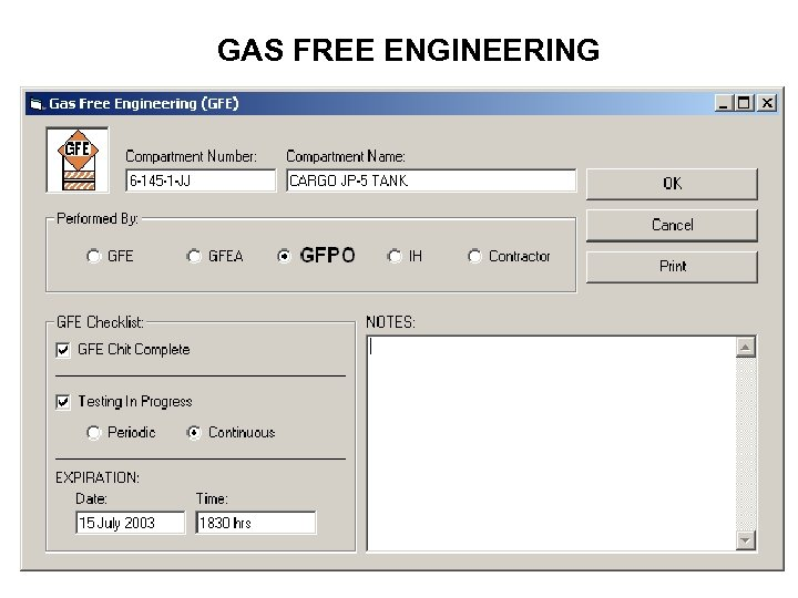 GAS FREE ENGINEERING
