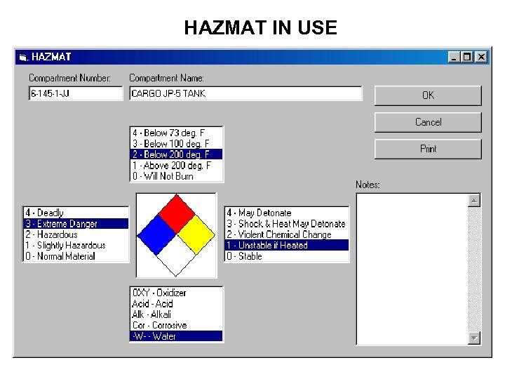 HAZMAT IN USE