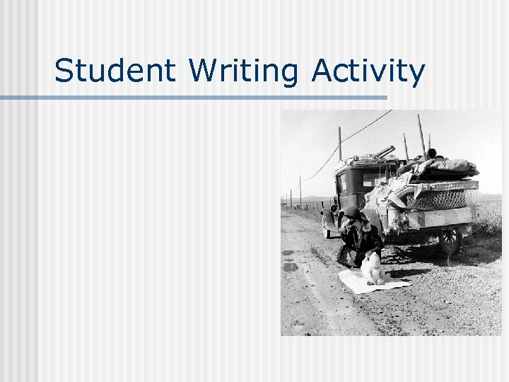 Student Writing Activity