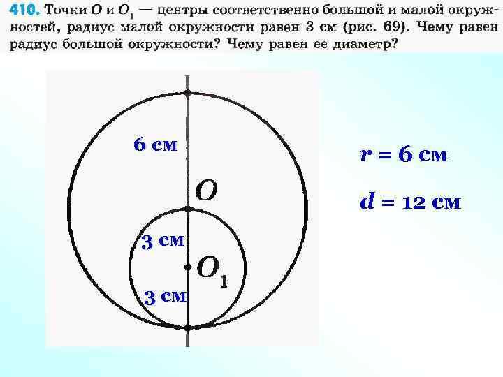 6 см r = 6 cм d = 12 cм 3 см
