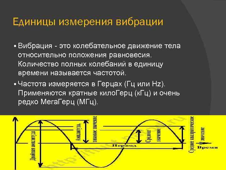 Единицы измерения вибрации § Вибрация - это колебательное движение тела относительно положения равновесия. Количество