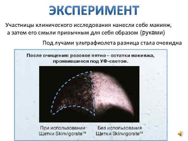 Участницы клинического исследования нанесли себе макияж, а затем его смыли привычным для себя образом