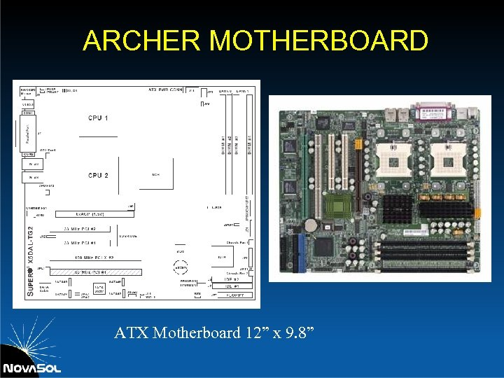 """ARCHER MOTHERBOARD ATX Motherboard 12"""" x 9. 8"""""""
