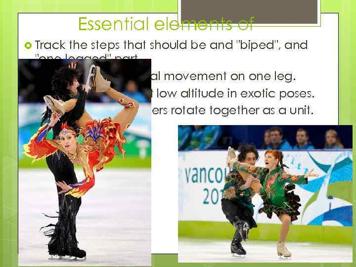 Essential elements of Track the steps that should be and