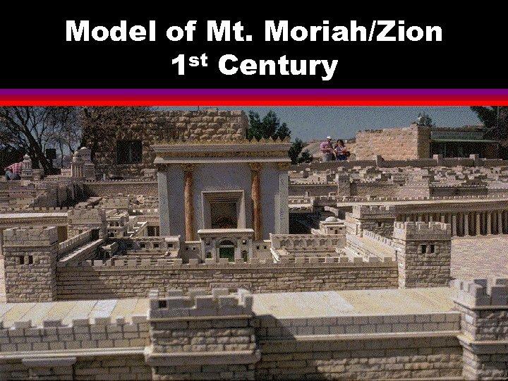 Model of Mt. Moriah/Zion 1 st Century