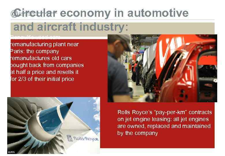 Circular economy in automotive and aircraft industry: Renault's used cars remanufacturing plant near Paris: