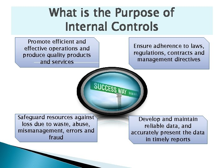 What is the Purpose of Internal Controls Promote efficient and effective operations and produce