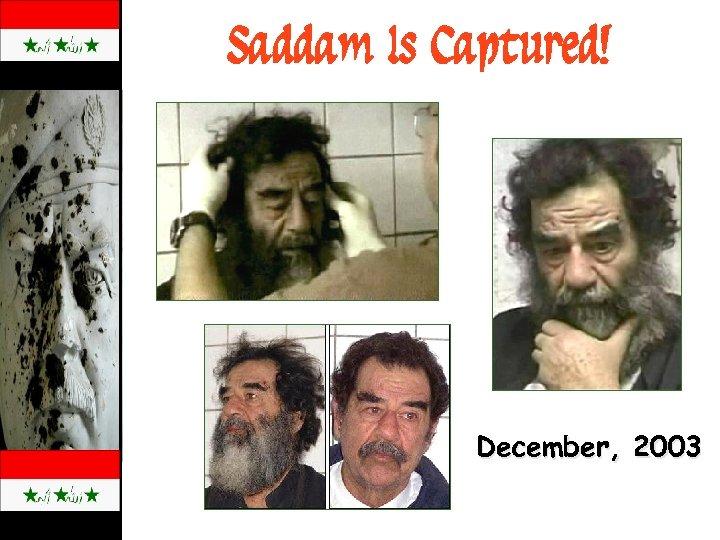 Saddam Is Captured! December, 2003