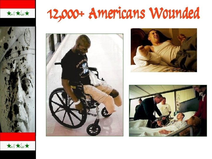 12, 000+ Americans Wounded