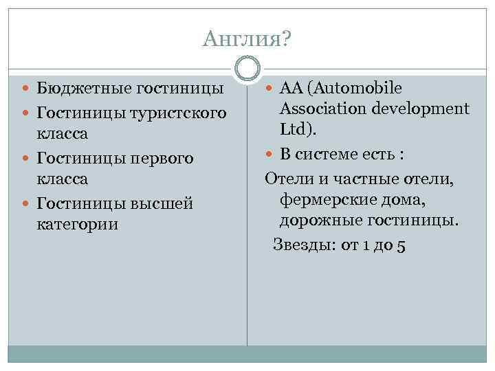 Англия? Бюджетные гостиницы АА (Automobile Гостиницы туристского Association development Ltd). В системе есть :