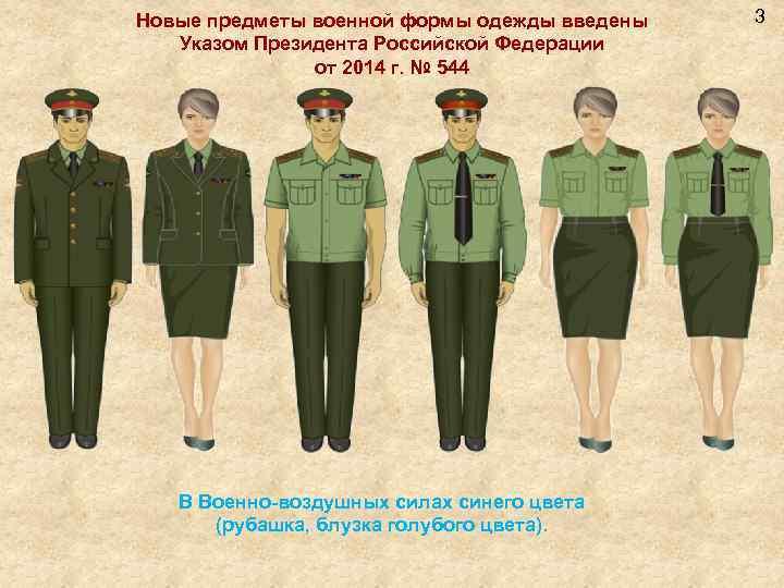 Новые предметы военной формы одежды введены Указом Президента Российской Федерации от 2014 г. №