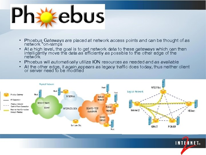 • Phoebus Gateways are placed at network access points and can be thought