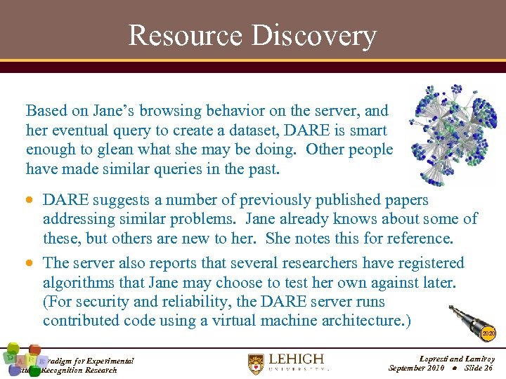 Resource Discovery Based on Jane's browsing behavior on the server, and her eventual query