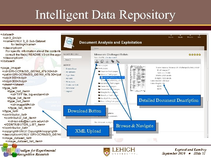 Intelligent Data Repository <dataset> <id>3_G</id> <name>UNLV 3_G Sub-Dataset for testing</name> <description> For specific information