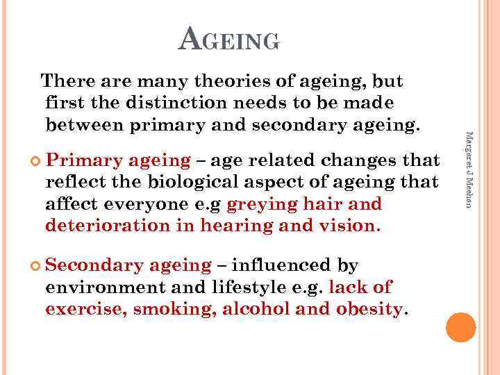 primary and secondary aging