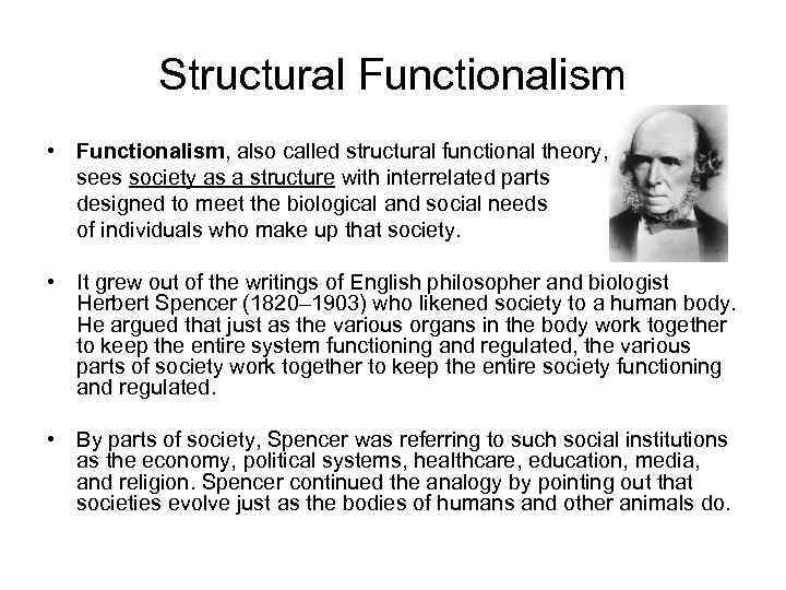 structural functionalism a framework for building Structural functionalism, or simply functionalism, is a framework for building theory that sees society as a complex system whose parts work together to promote solidarity and stability[1] this approach looks at society through a macro-level orientation, which is a broad focus on the social structures that shape society as a whole, and.