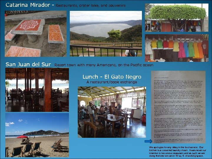 Catarina Mirador - Restaurants, crater lake, and souvenirs San Juan del Sur Resort town