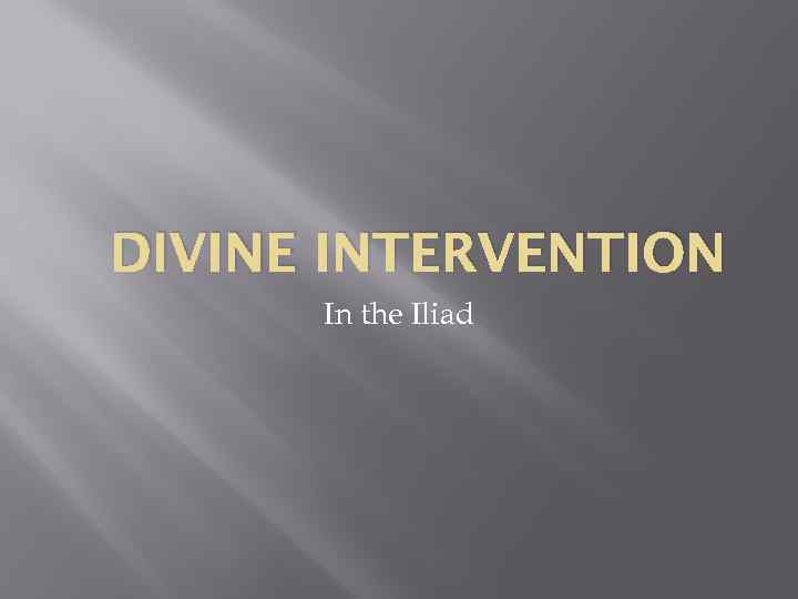 divine intervention in the odyssey