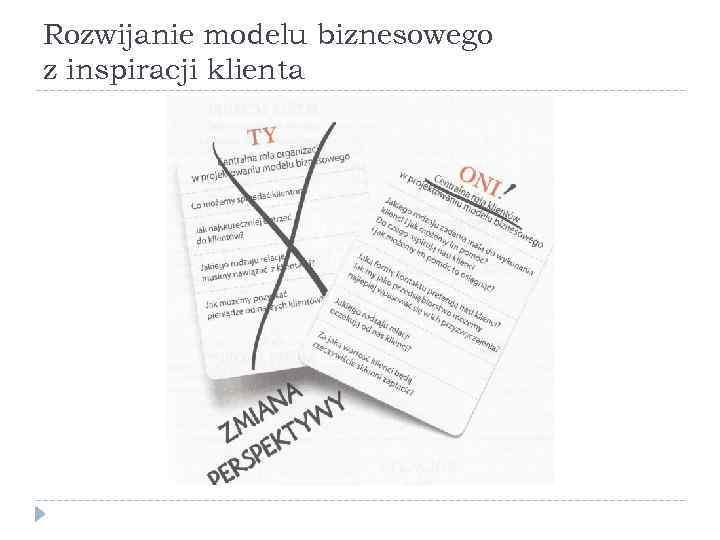 Rozwijanie modelu biznesowego z inspiracji klienta
