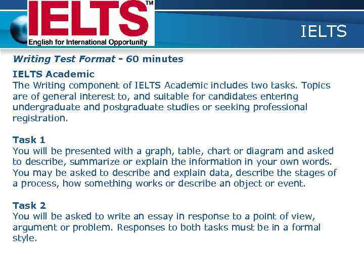 compose essay ielts Ielts writing graphs: learn how to write about about graphs and charts good for task 1 in ielts writing argument: you have to give your opinion in a short essay.