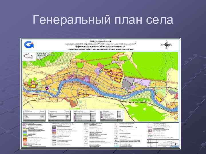 Генеральный план села