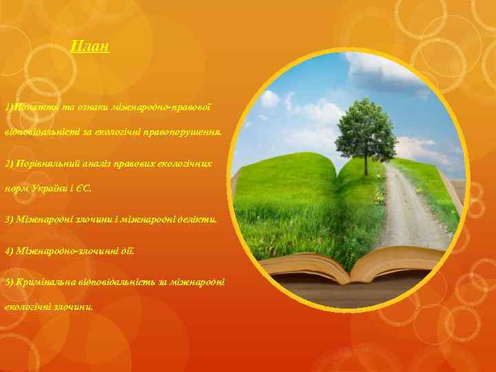 План 1)Поняття та ознаки міжнародно-правової відповідальністі за екологічні правопорушення. 2) Порівняльний аналіз правових екологічних