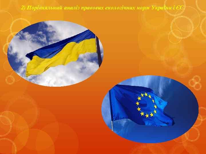 2) Порівняльний аналіз правових екологічних норм України і ЄС.
