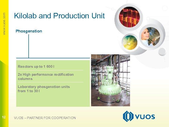 Kilolab and Production Unit Phosgenation Reactors up to 1 600 l 2 x High