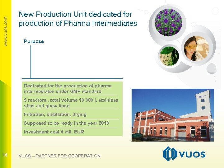 New Production Unit dedicated for production of Pharma Intermediates Purpose 18 Dedicated for the
