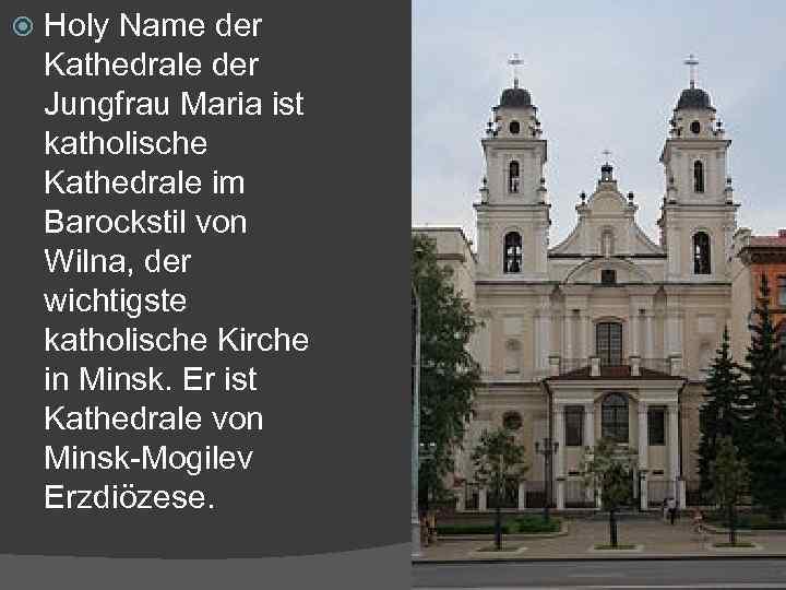 Holy Name der Kathedrale der Jungfrau Maria ist katholische Kathedrale im Barockstil von