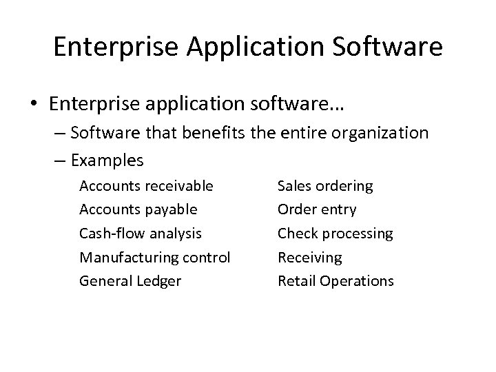 Software Systems and Applications Software The Importance