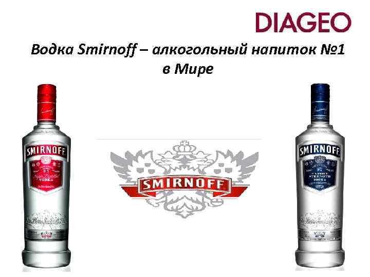 Водка Smirnoff – алкогольный напиток № 1 в Мире