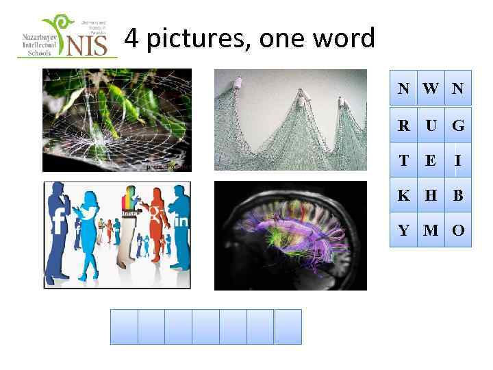 4 pictures, one word N W N R U G T E I K