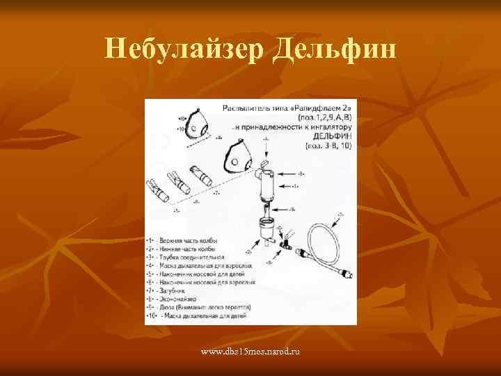 Небулайзер Дельфин www. dbs 15 mos. narod. ru