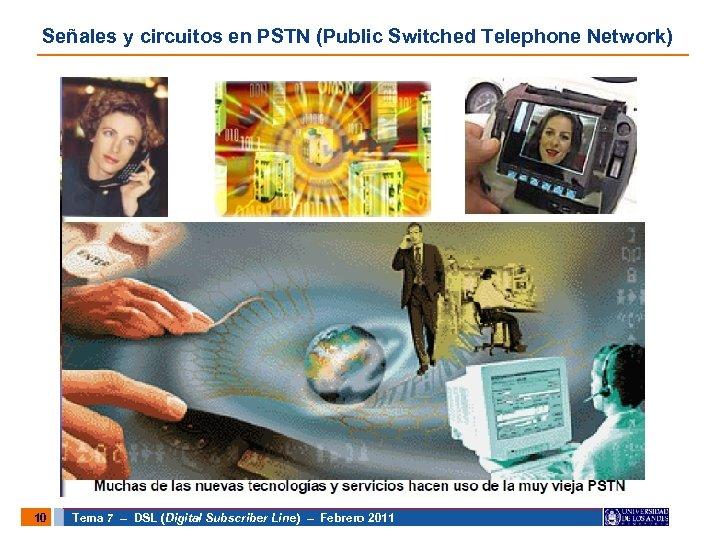 Señales y circuitos en PSTN (Public Switched Telephone Network) 10 Tema 7 – DSL