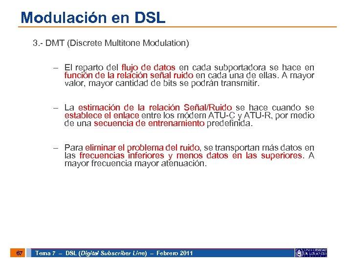 Modulación en DSL 3. - DMT (Discrete Multitone Modulation) – El reparto del flujo