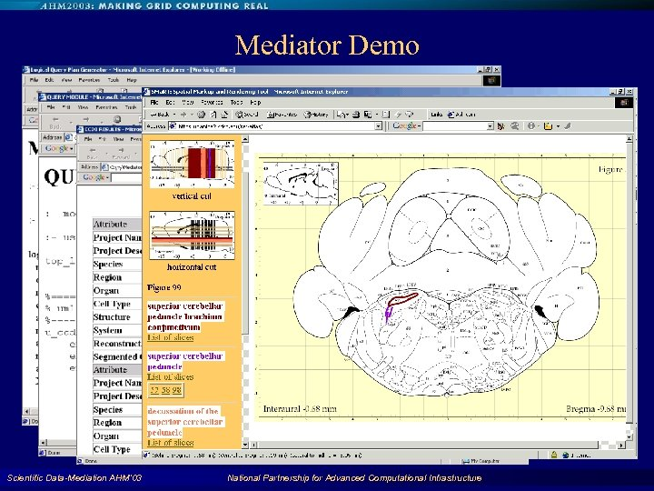 Mediator Demo Scientific Data-Mediation AHM'03 National Partnership for Advanced Computational Infrastructure 44