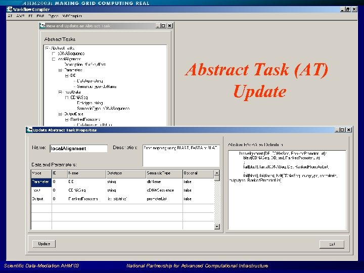 Abstract Task (AT) Update Scientific Data-Mediation AHM'03 National Partnership for Advanced Computational Infrastructure 89