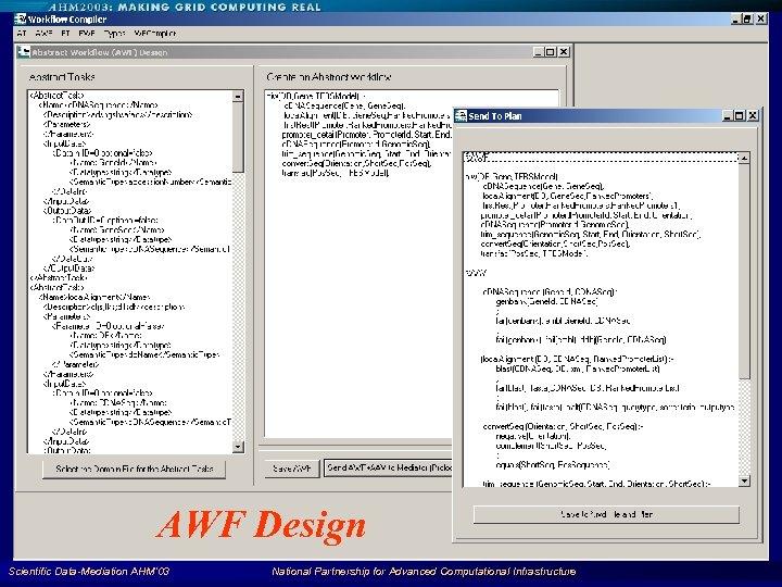 AWF Design Scientific Data-Mediation AHM'03 National Partnership for Advanced Computational Infrastructure 90