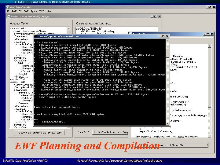 EWF Planning and Compilation Scientific Data-Mediation AHM'03 National Partnership for Advanced Computational Infrastructure 91
