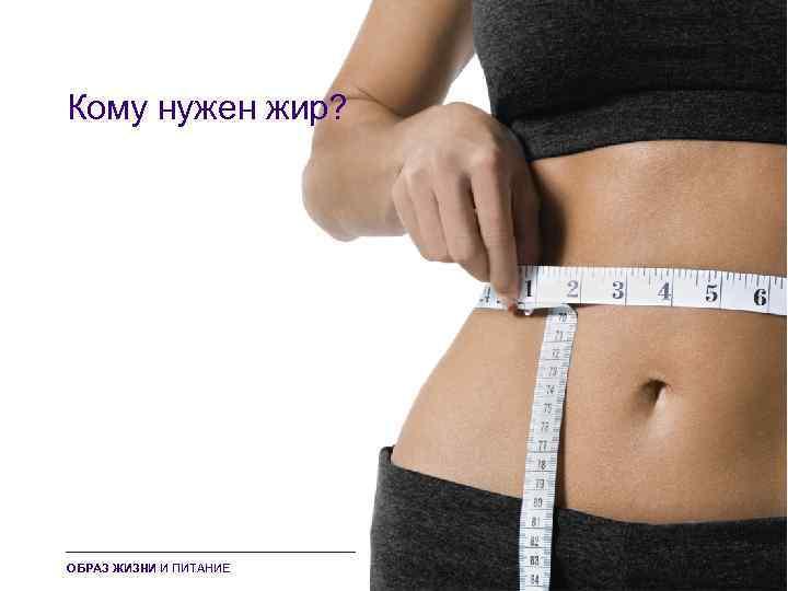 Кому нужен жир? ОБРАЗ ЖИЗНИ И ПИТАНИЕ