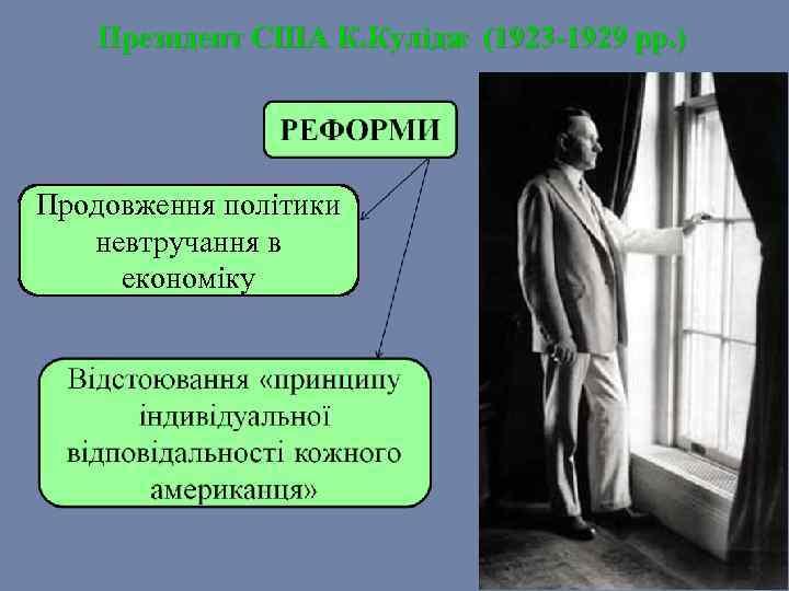 Президент США К. Кулідж (1923 -1929 рр. ) Продовження політики невтручання в економіку