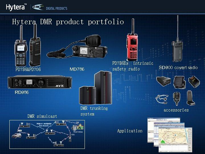 Hytera DMR product portfolio PD 786&PD 706 MD 786 PD 786 Ex intrinsic safety