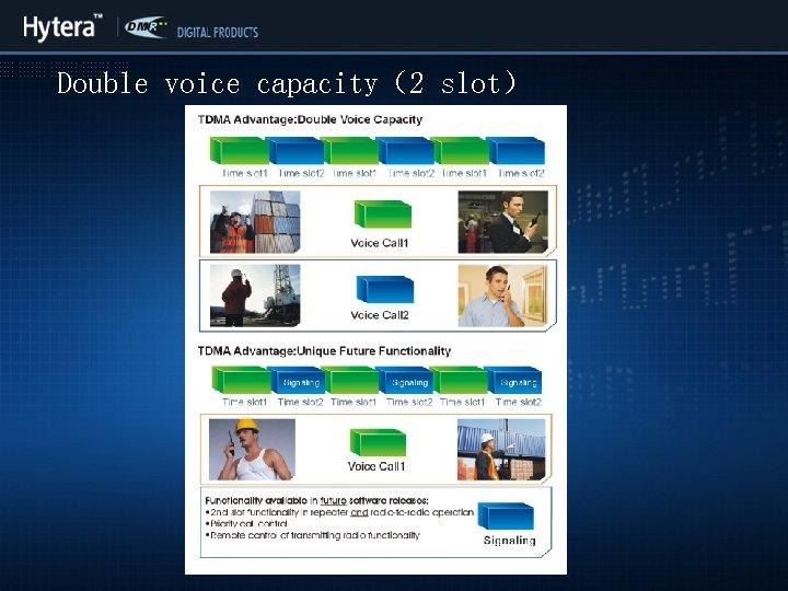 Double voice capacity(2 slot)