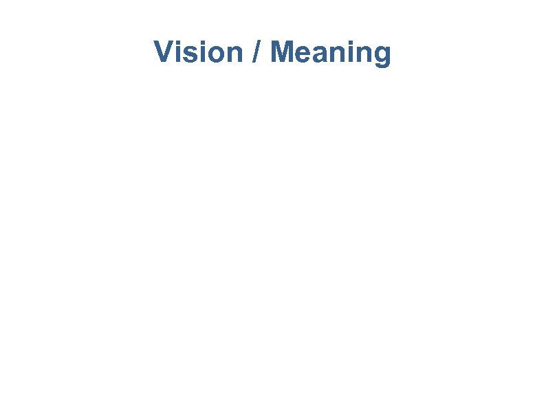Vision / Meaning 39