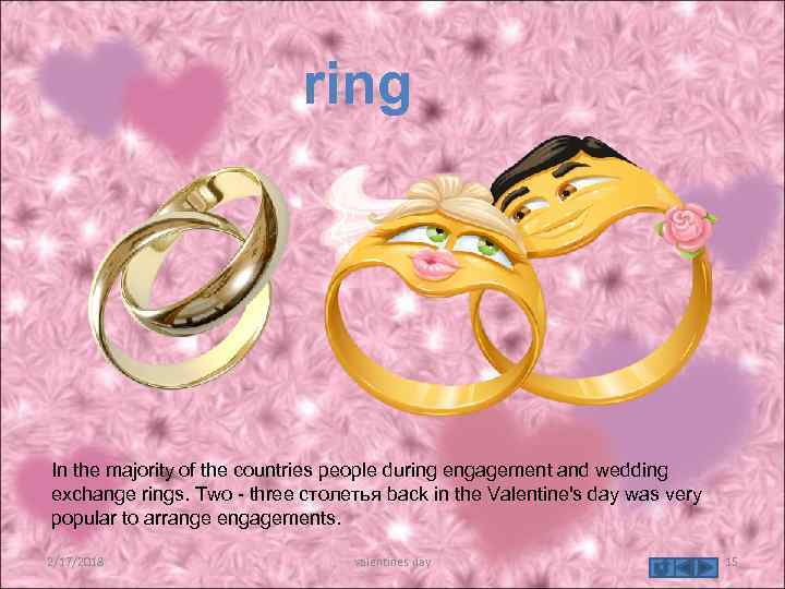 ring In the majority of the countries people during engagement and wedding exchange rings.
