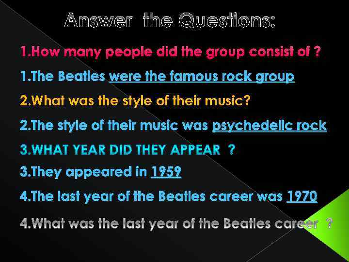 Answer the Questions: 1. How many people did the group consist of ? 1.