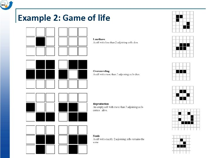 Example 2: Game of life