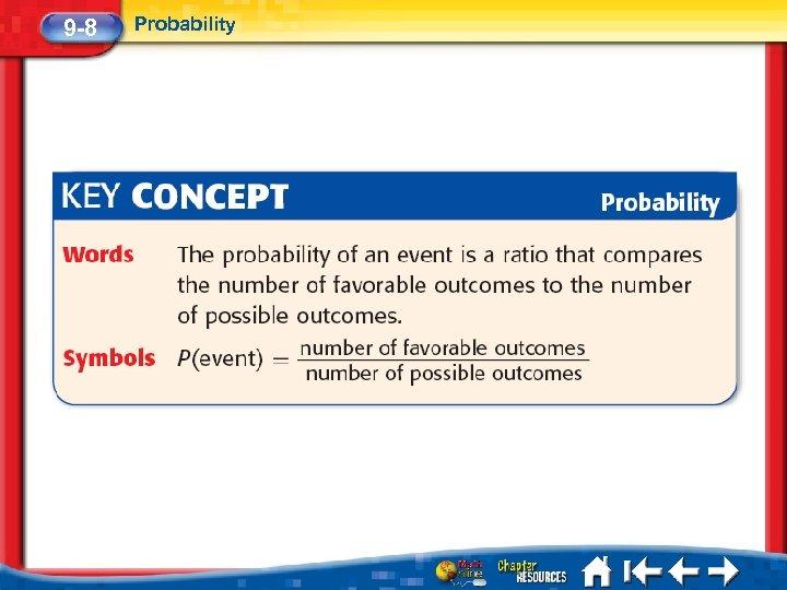 9 -8 Probability