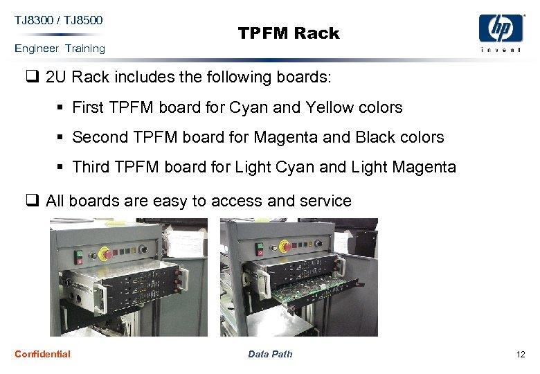 TJ 8300 / TJ 8500 Engineer Training TPFM Rack q 2 U Rack includes